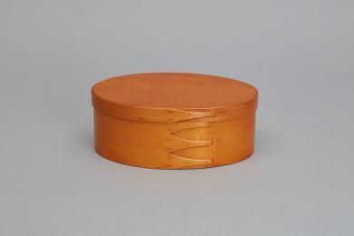 Clear-coated oval box, Mount Lebanon, NY