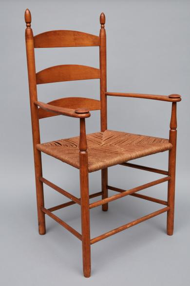 Production arm chair attributed to Sister Lillian Barlow or Brother William Perkins, Second Family, Mount Lebanon, NY