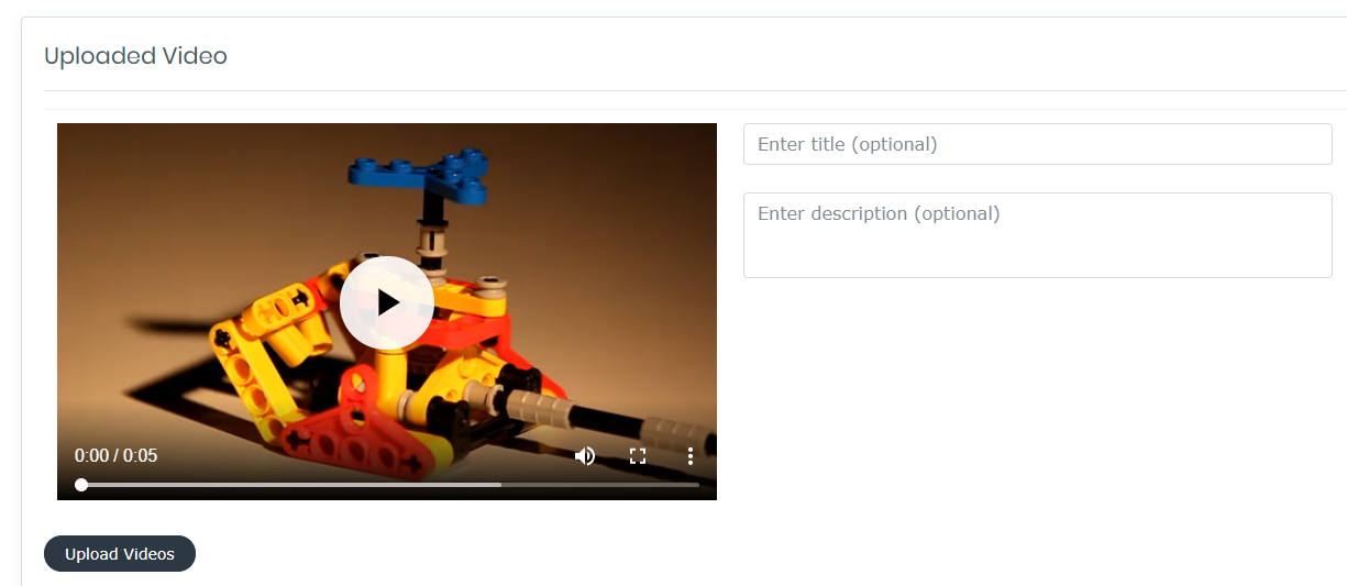 Angular Video Uploader