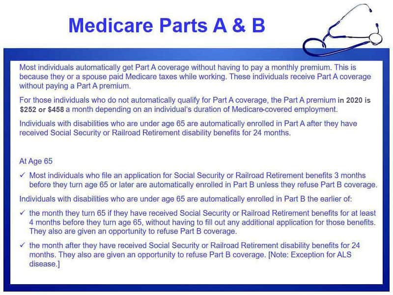 Medicare parts A & B coverage explained