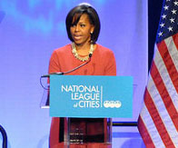 First lady sees economic benefit in curbing childhood obesity