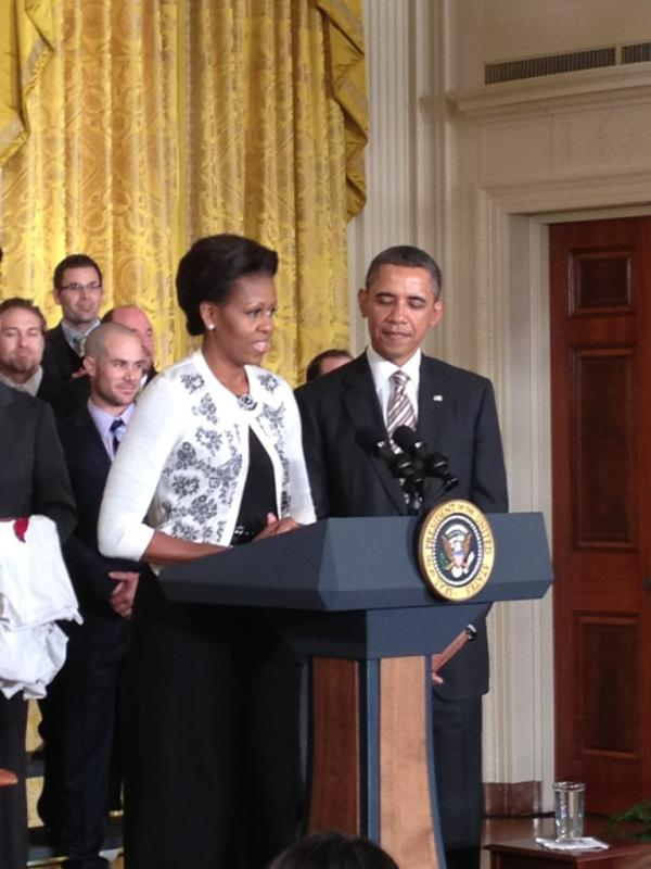 Obama welcomes World Series champion Cardinals to White House