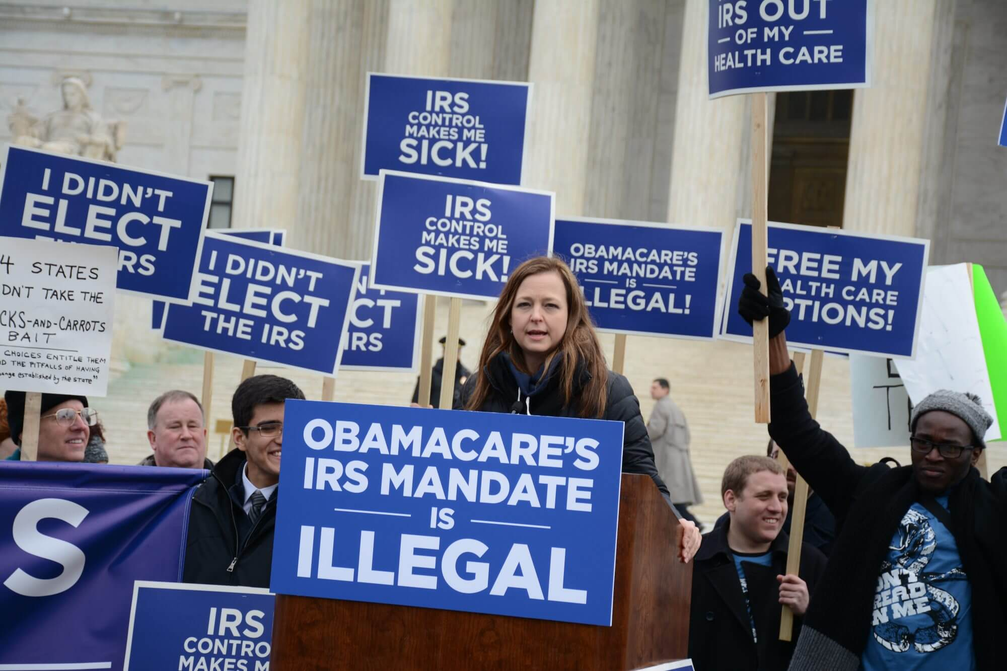A handful of words leaves Obamacare's survival at stake