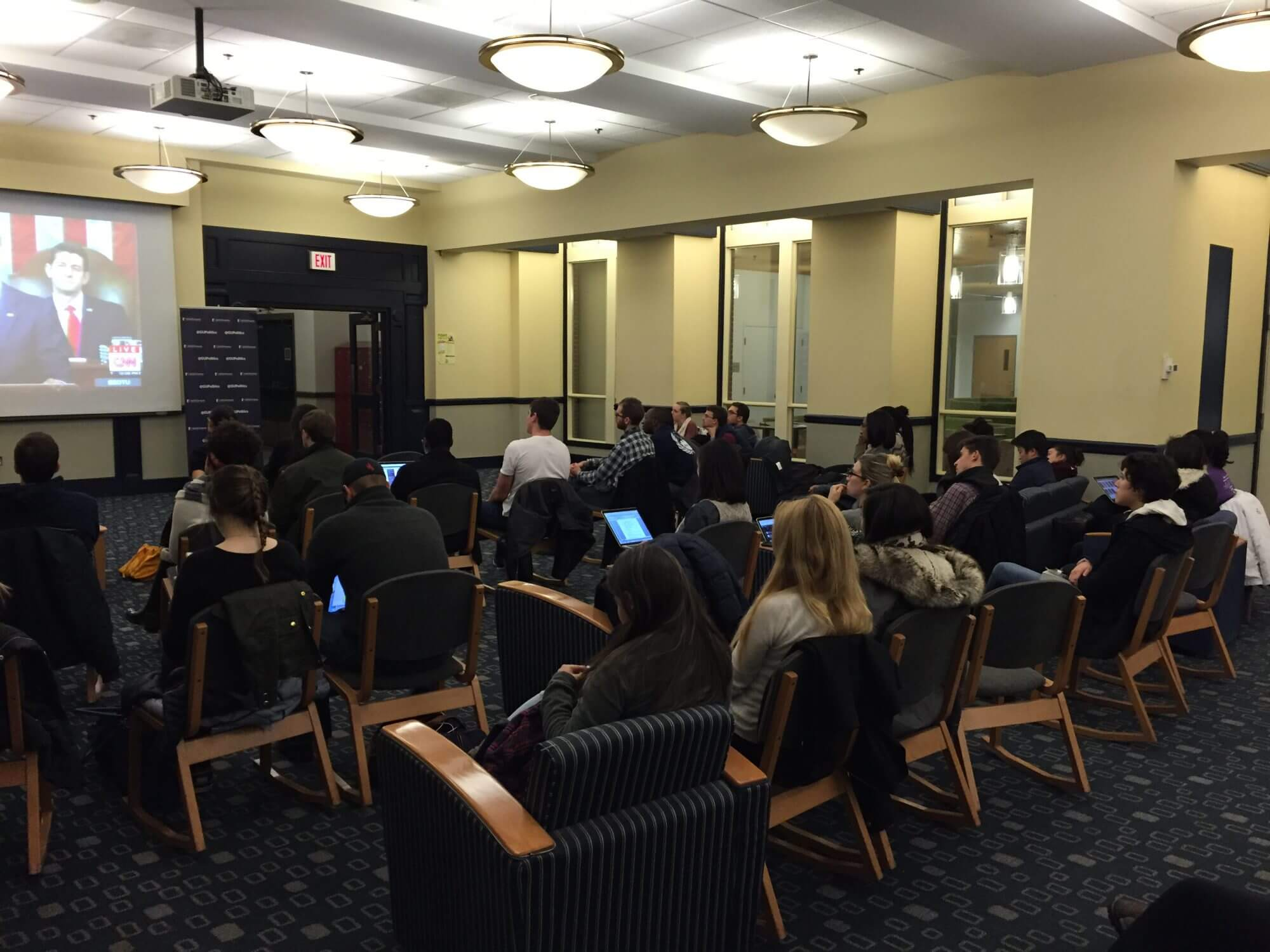 Obama speech met with stoic response from Georgetown students