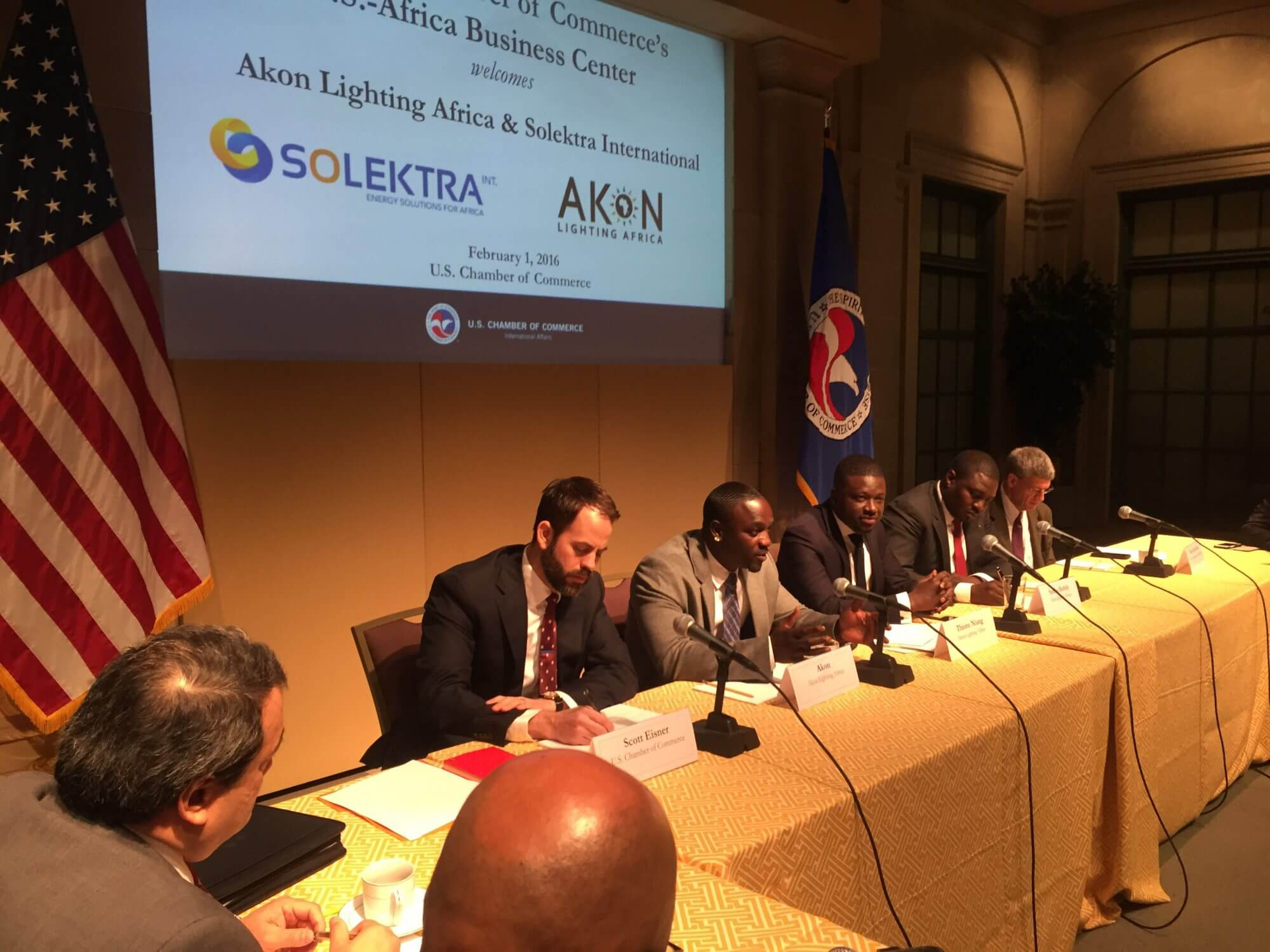 Akon Promotes Renewable Energy Initiative at Chamber of Commerce