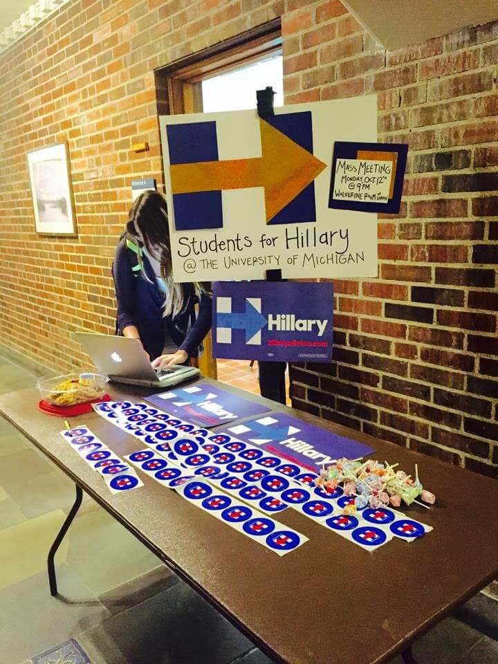 Clinton college-age supporters look to boost candidate in Michigan