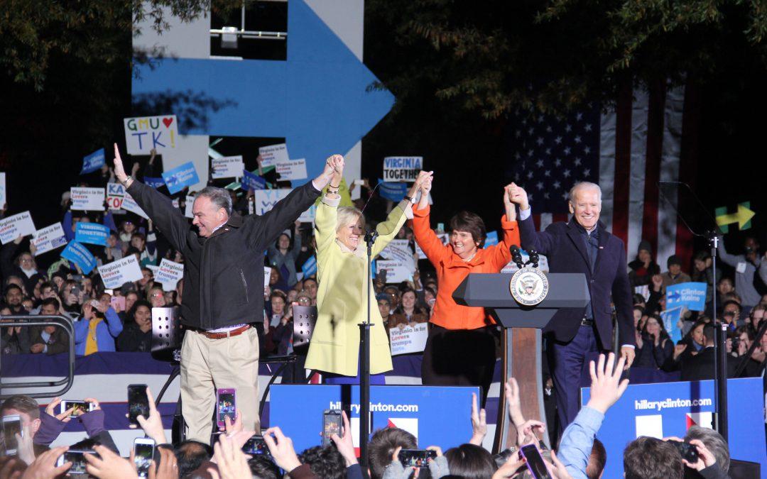 Tim Kaine, Joe Biden rally for Clinton in Virginia