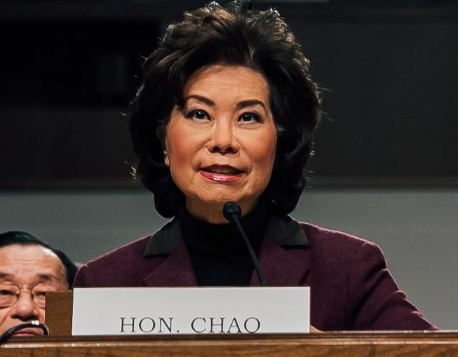 Transportation Secretary Elaine Chao touts Trump's infrastructure bill despite gaps in funding