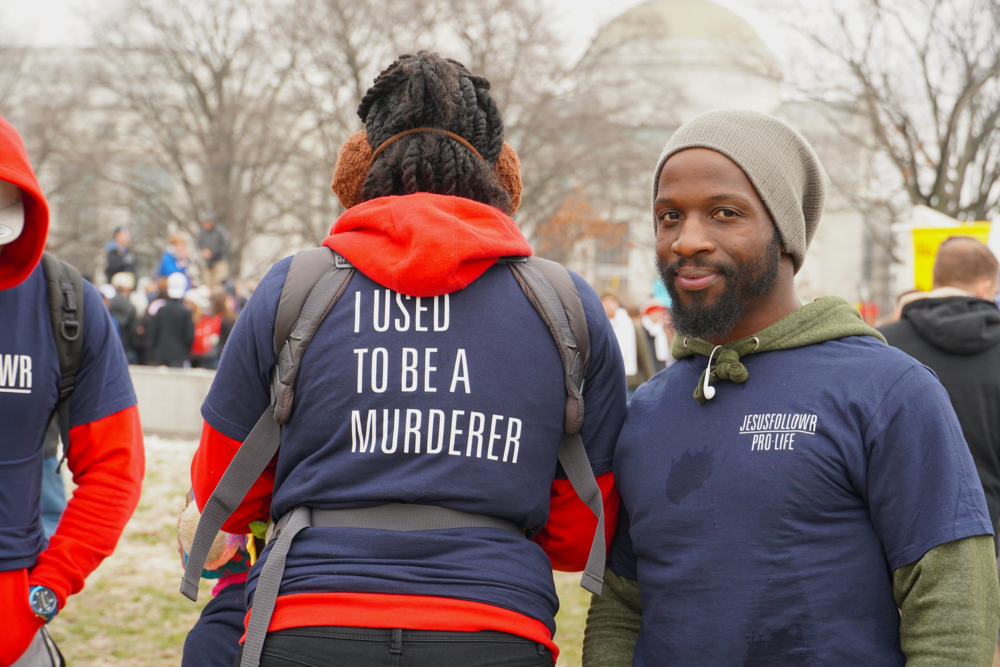A woman who used to be pro-abortion now attends and supports the March for Life. (Ester Wells/MNS)