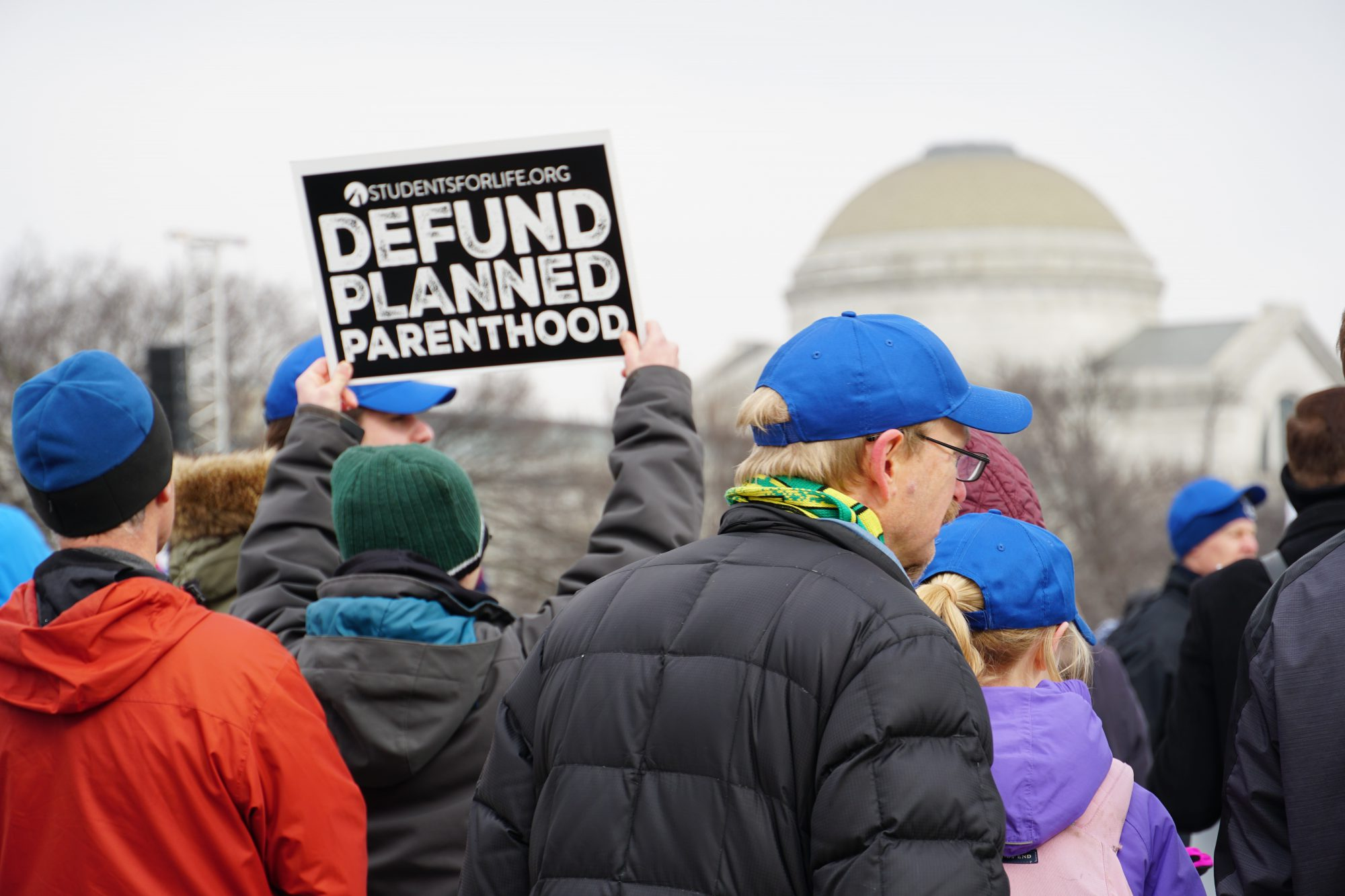 One of the marchers' goals is to defund Planned Parenthood. (Ester Wells/MNS)