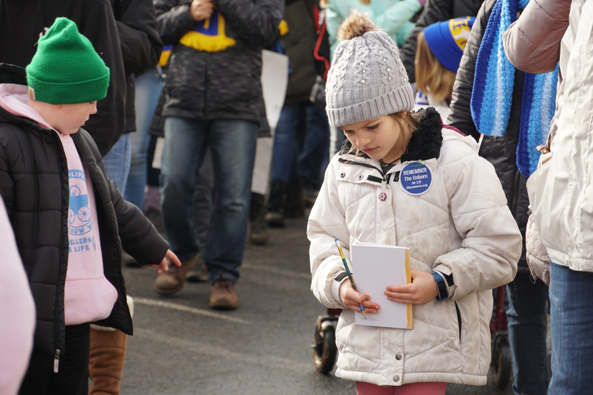 Young children also attended the March for Life with their parents. (Ester Wells/MNS)