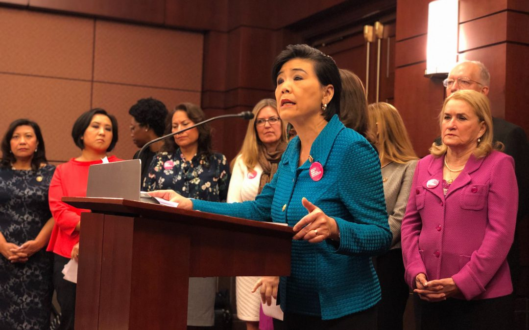 DEMOCRATS PROMISE TO FIGHT TRUMP ON WOMEN'S HEALTH CARE