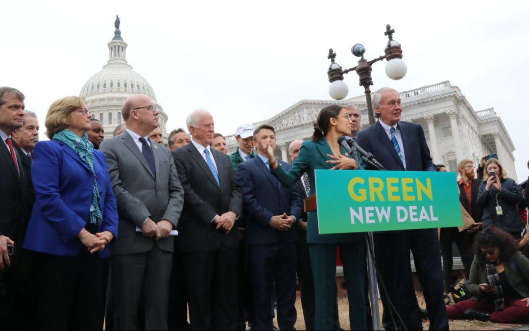DEMOCRATS HOPE TO BE CARBON NEUTRAL IN 2030 IN GREEN NEW DEAL RESOLUTION