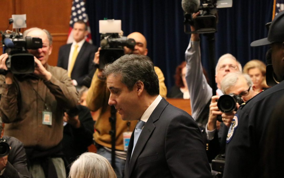 COHEN, UNDER OATH, CLAIMS TRUMP DIRECTED HIM TO COMMIT SEVERAL FEDERAL CRIMES