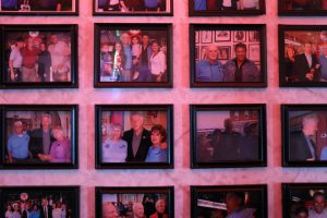 The restaurant pays homage to its well-known visitors through its wall of framed photos of famous diners including Bill Clinton, John McCain, Barbara Bush, and Ivanka Trump. (Charlotte Walsh/MNS)