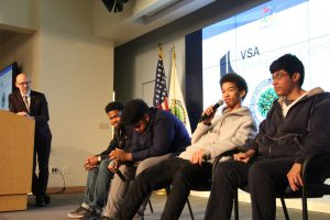 Local DC students discuss why musical and visual art is important to their lives and future goals. (Nirmal Mulaikal/MNS)
