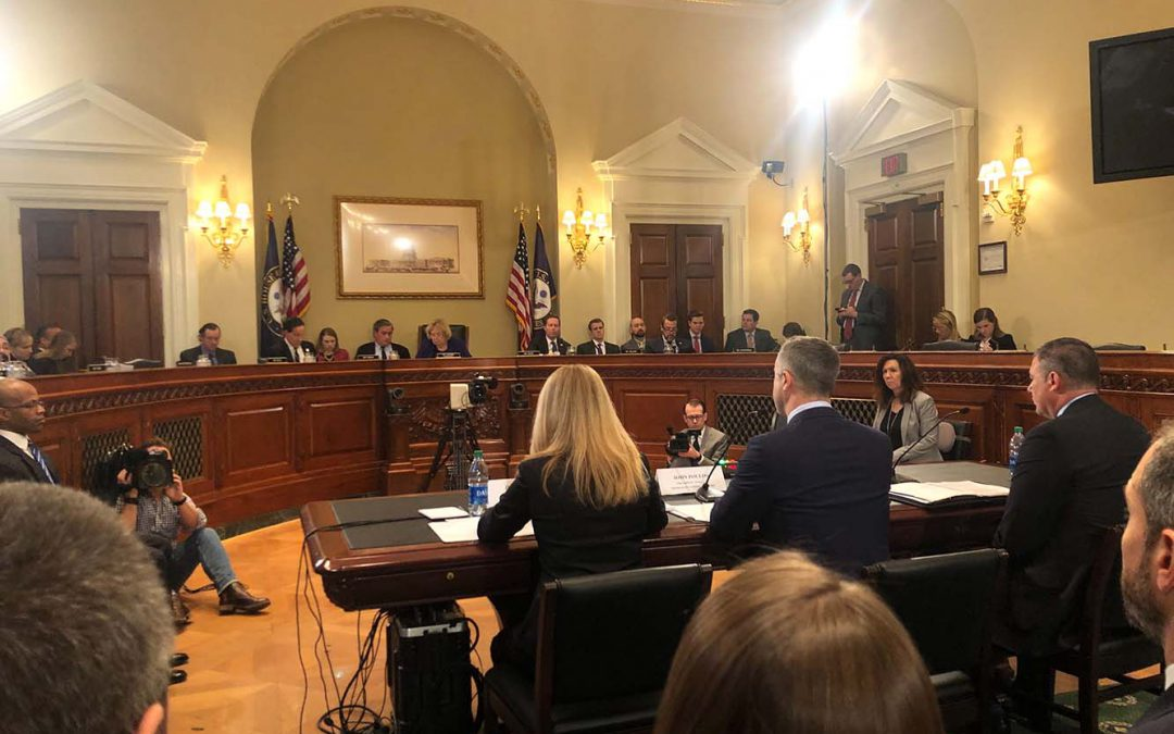 Voting machine vendors testifying on election security