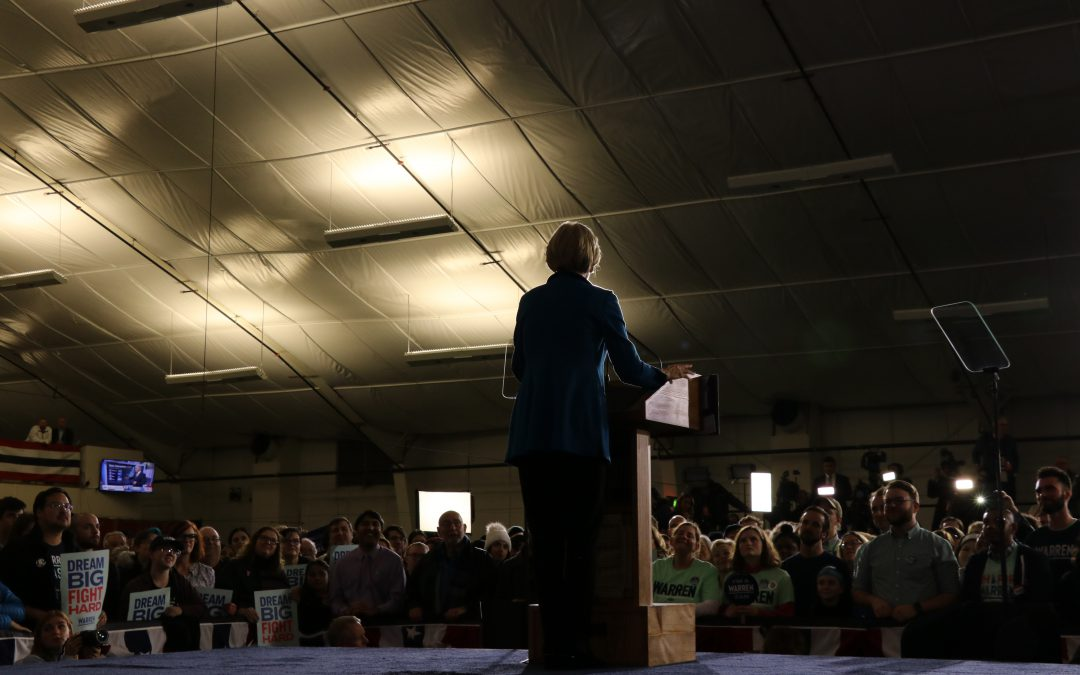 Warren stumbles in her own backyard, but will persist – with changes