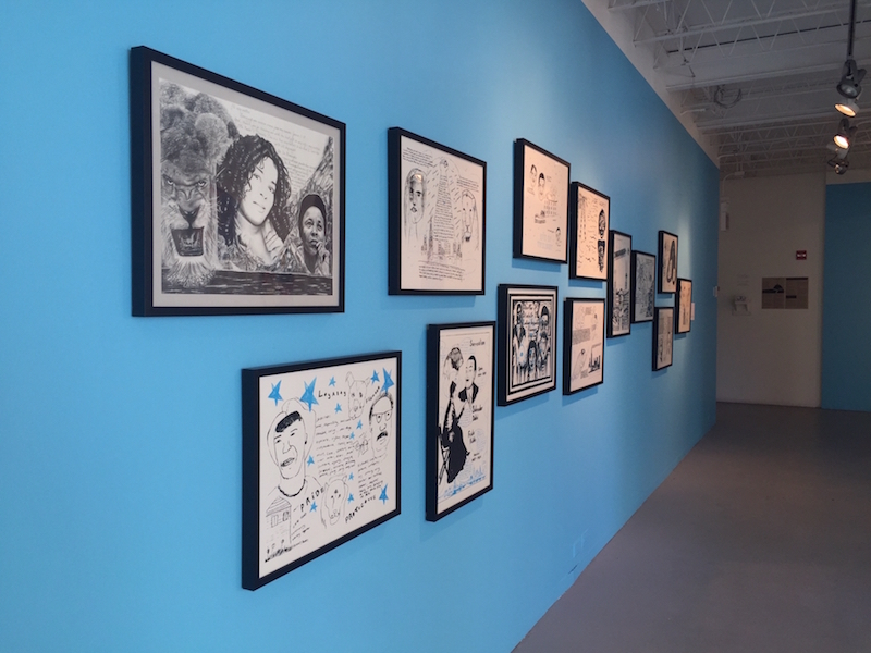 """96 Acres, """"Weight of Rage"""" exhibit at Hyde Park Art Center."""