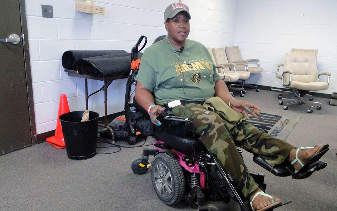 Army veteran Hattie Tyson