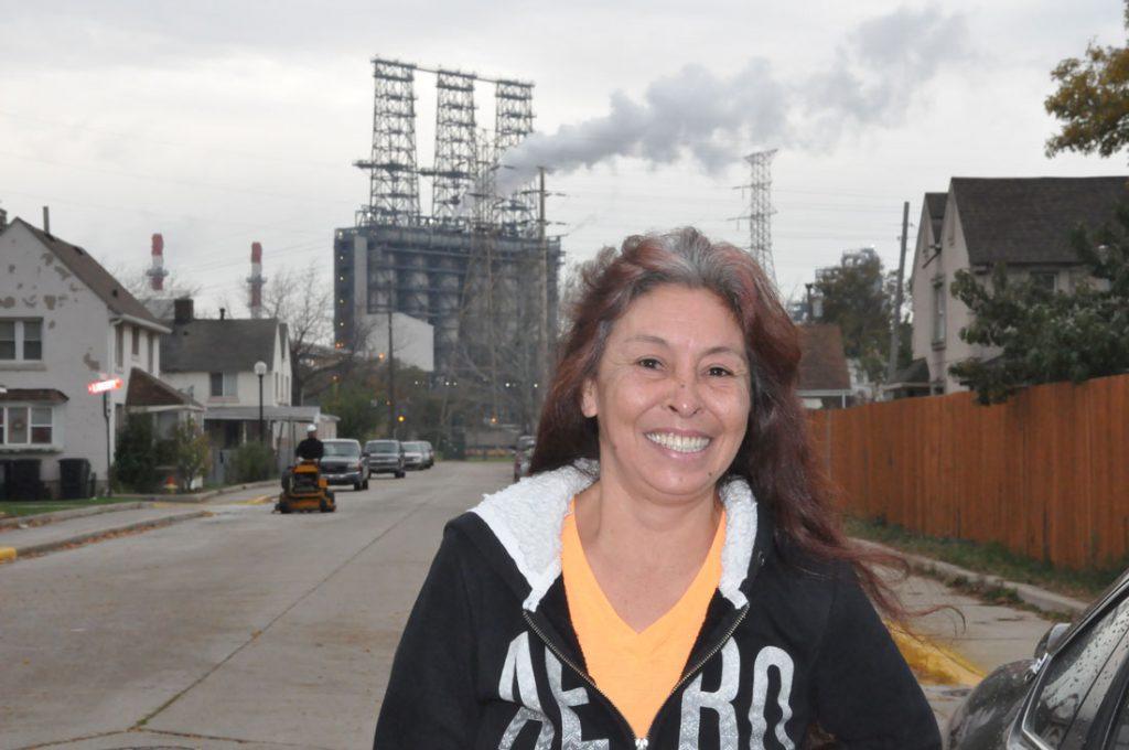 Esmerelda Gutierrez outside the polling station in Marktown on Nov. 8