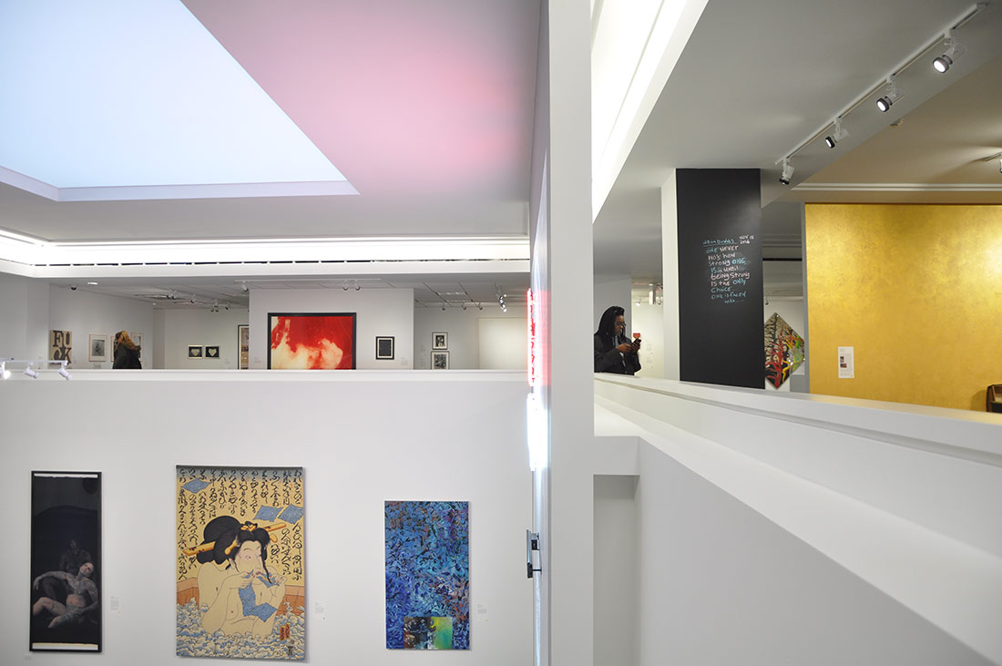 The second story of Art AIDs America Chicago in the Alphawood gallery