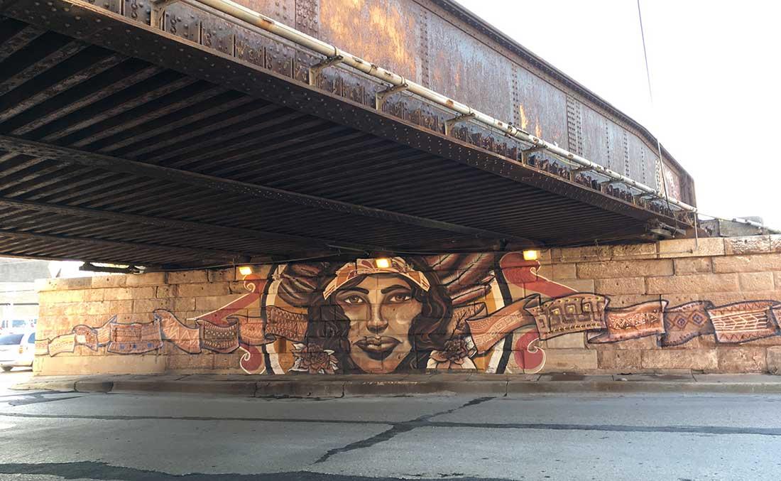sepia-mural