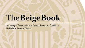 The Beige Book, a publication of the Federal Reserve