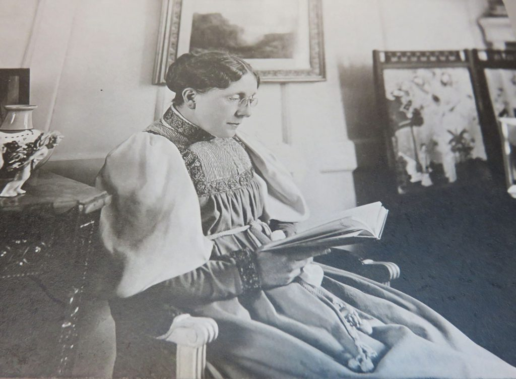 Frances Willard reading.