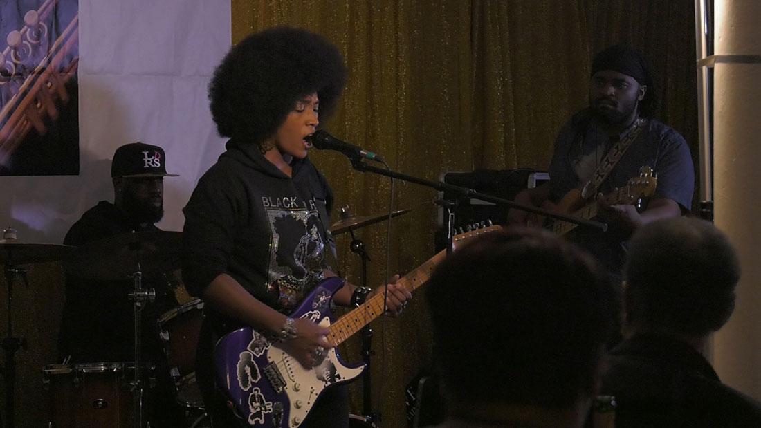 Jazzin' & Jammin' in Bronzeville event headlined by Melody Angel & Friends. (Nadia Adams/MEDILL)