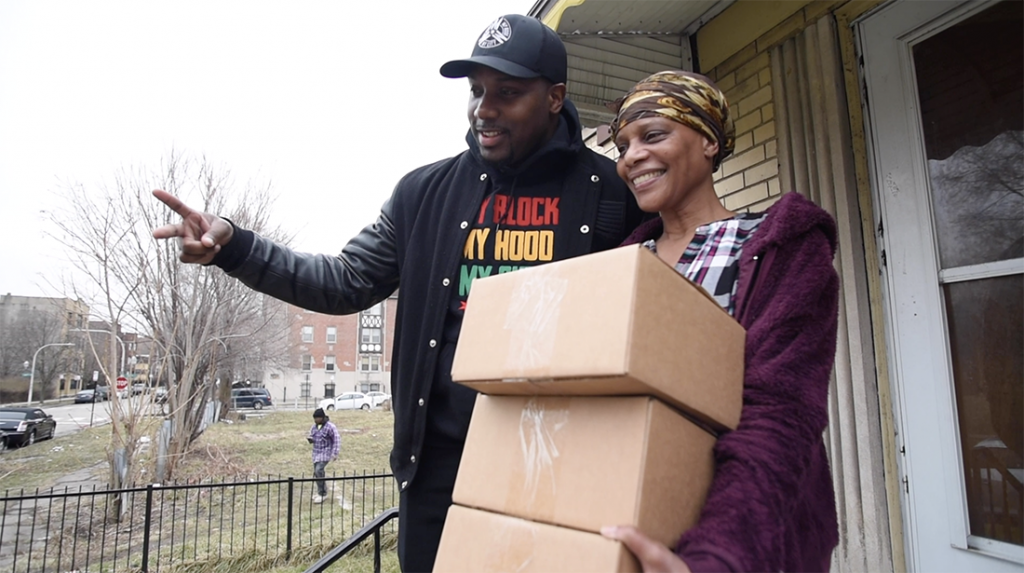 My Block, My Hood, My City Delivers Care Package to Seniors
