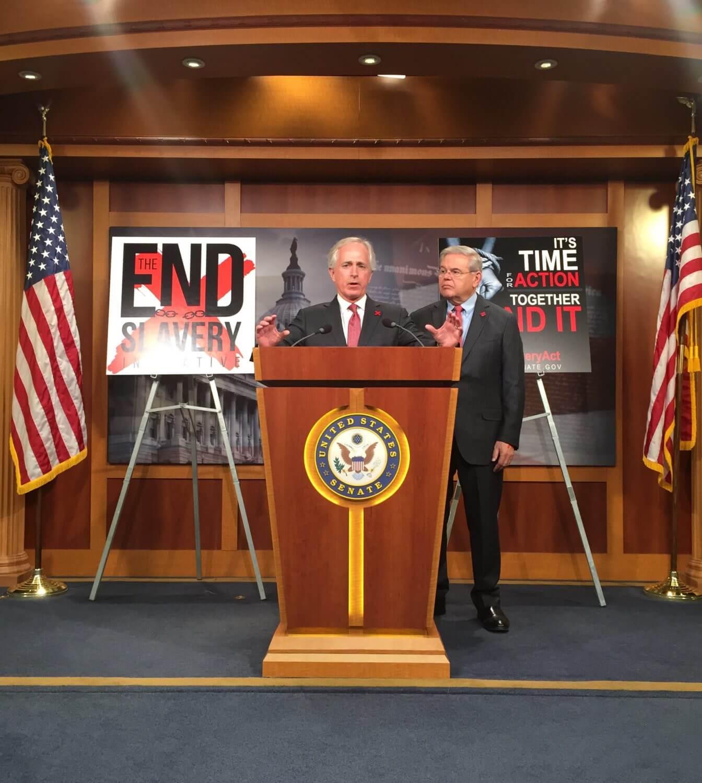 Senators introduce bill to combat human trafficking