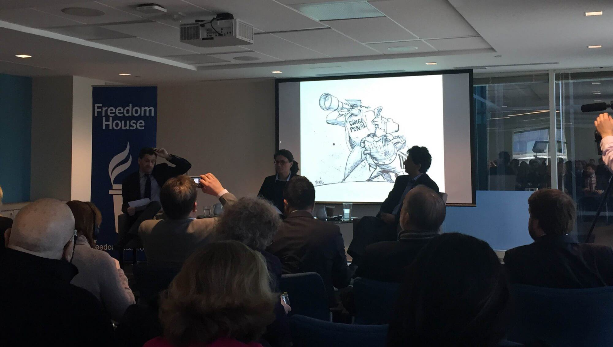 Cartoonists speak out against restrictions on press