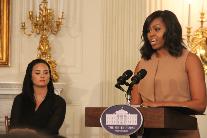 First Lady Michelle Obama honors Ray Charles with student workshop