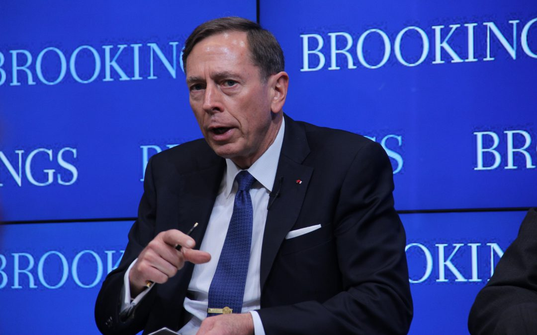 """Next president should make """"enduring commitment"""" to Afghanistan, Petraeus recommends"""