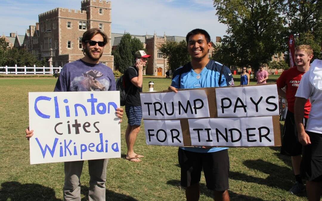 Washington University students turn second presidential debate into College GameDay