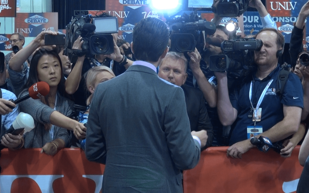 Face to face in the spin room
