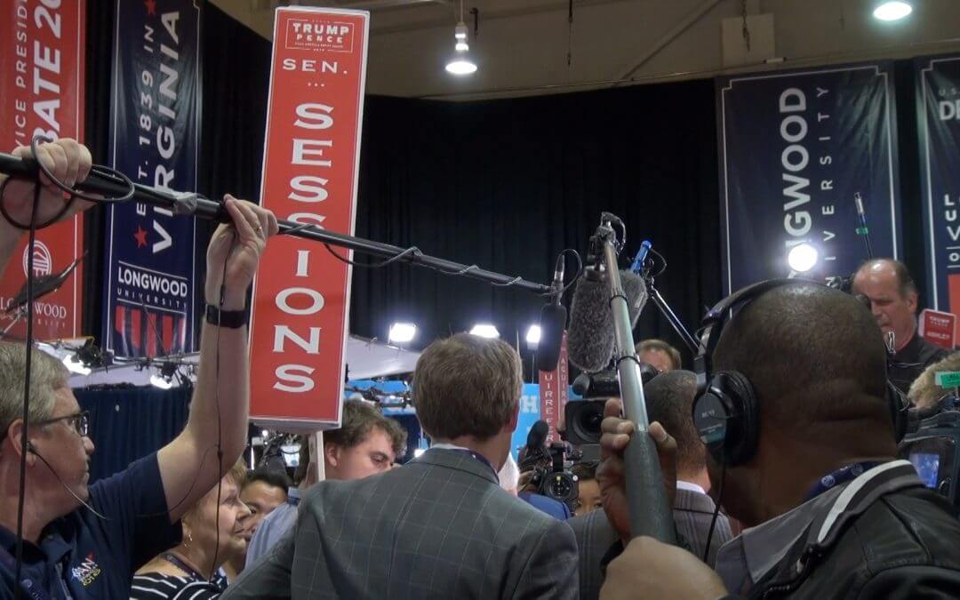 The 2016 VP Debate: Inside the spin room
