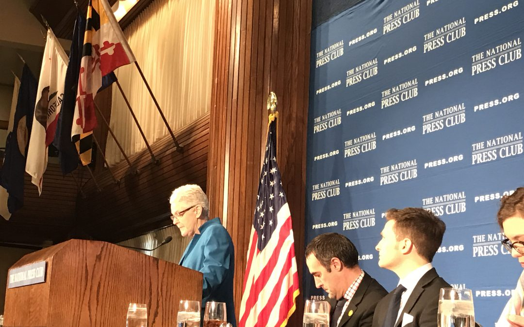 EPA chief argues that clean energy is a public health issue; says Trump team has not contacted her about the transition