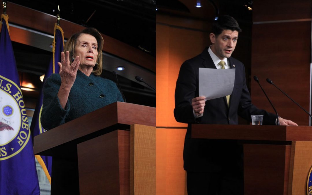 Ryan wants military funding, Pelosi wants DACA and CHIP as shutdown looms