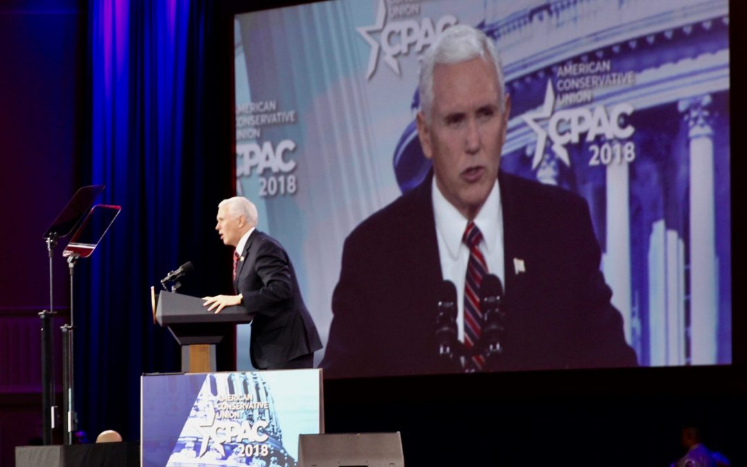 """Pence calls Trump's first year """"consequential"""" for conservatism"""