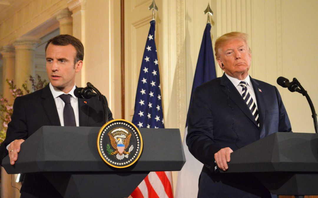 Trump and Macron show solidarity at the White House