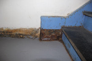 The school suffers from a myriad of infrastructural issues, including corrosion and flooding to stairs. (Samantha Handler/MNS)