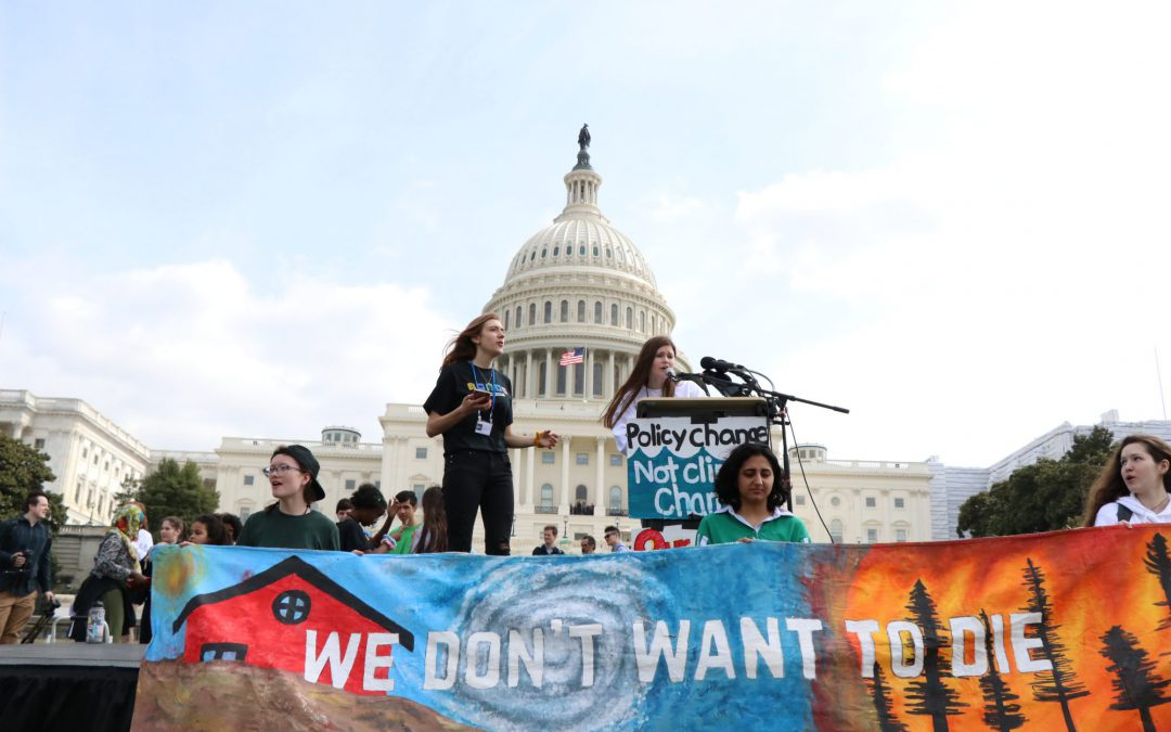 High School Students Gather In Washington As Part of Worldwide Strike For Climate Action
