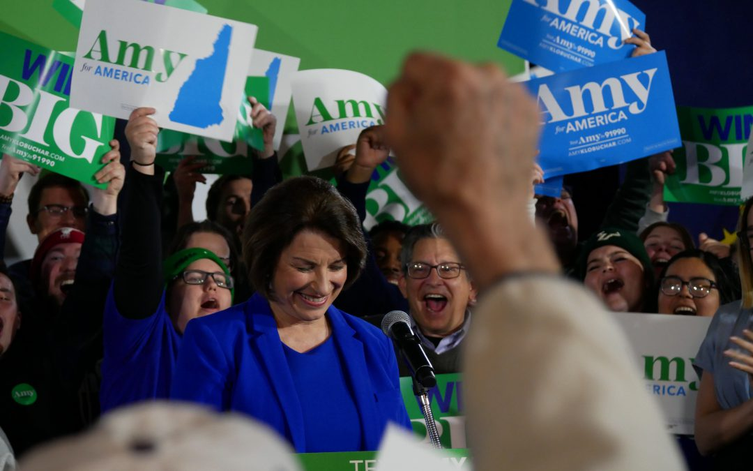 "Klobuchar finishes third in New Hampshire, gaining ""Klomentum"""