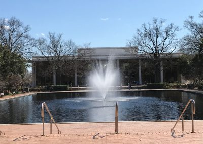 A fountain on the campus of the University of South Carolina in Columbia, the largest school in the state. (Benjamin Rosenberg/MNS)