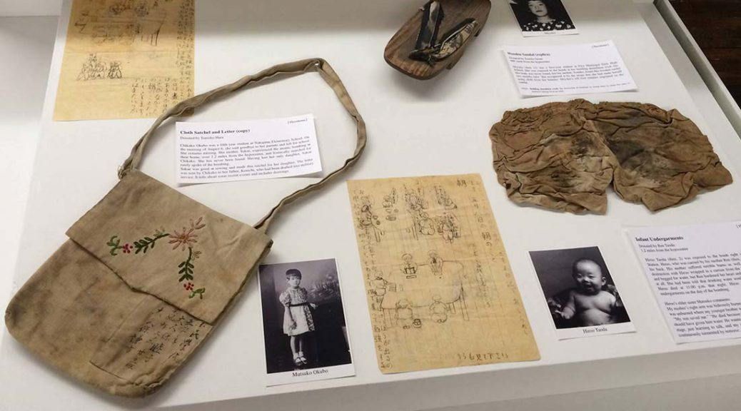 Items from the Hiroshima-Nagasaki Atomic Bomb Exhibition at Japanese Culture Center in Chicago