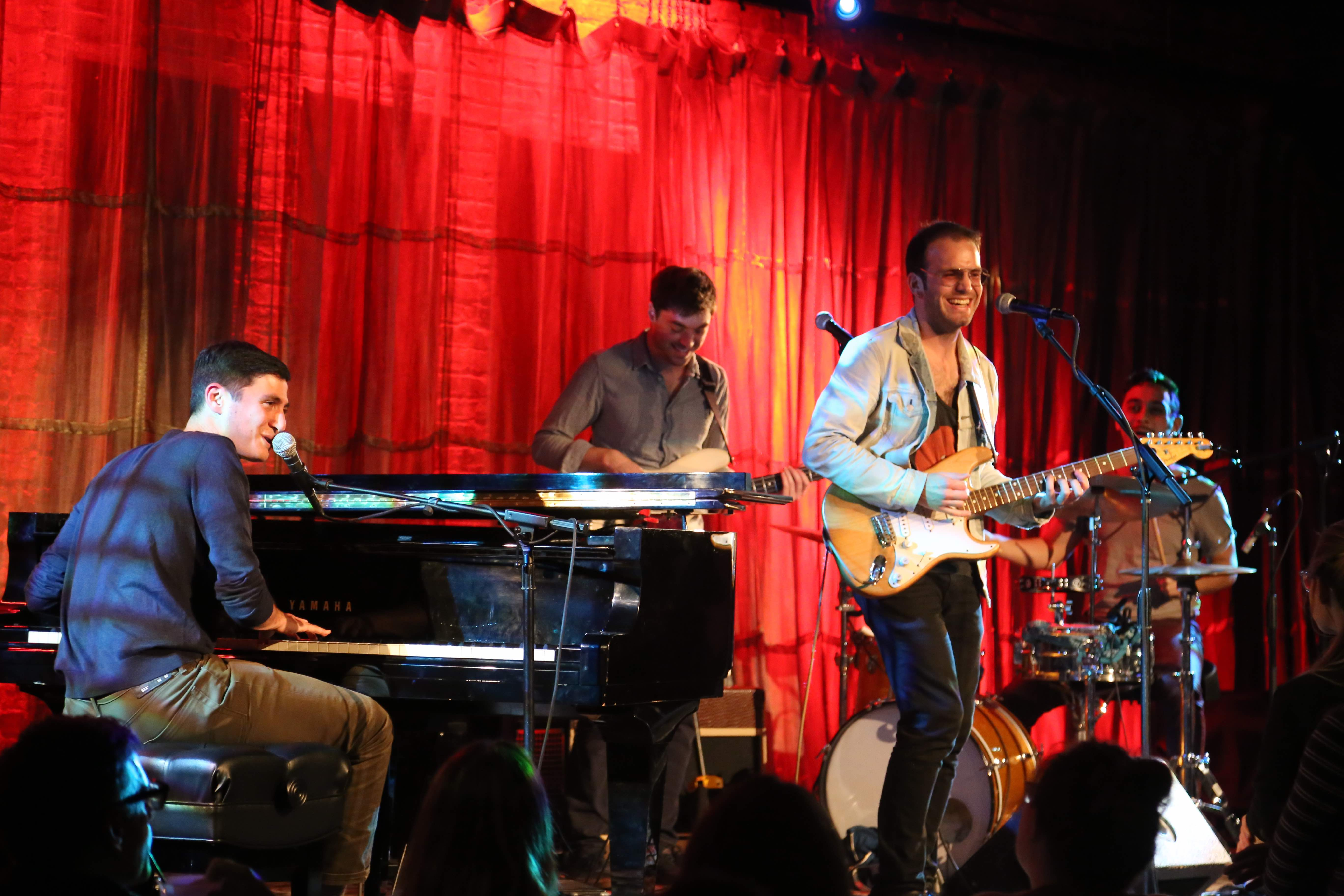 Katzman and his band at Evanston SPACE