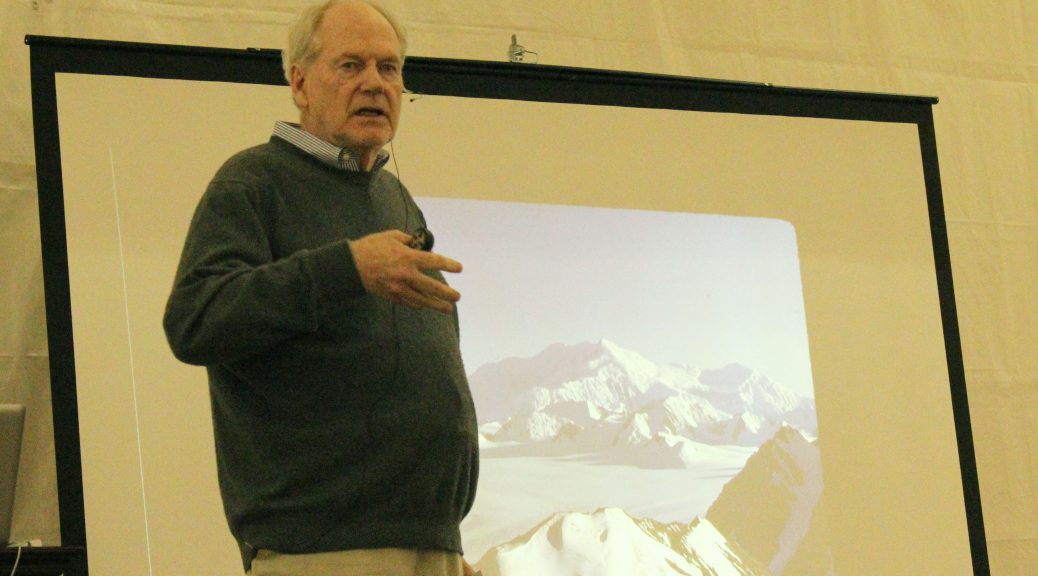George Denton talked about how ice age melts reveal important clues regarding abrupt climate change. (Abigail Foerstner/MEDILL)