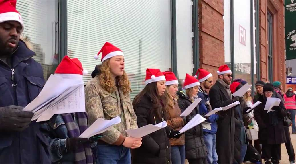 Anti-abortion carolers